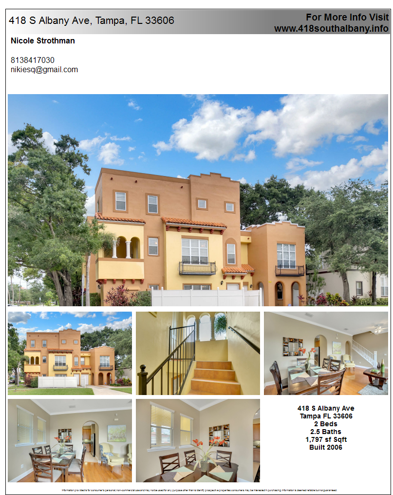 Printable Property Flyer